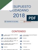 Pre Supuesto General Nacion 2018