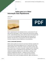 (Web) Coworking Offices. Truques Simples para Ler e Reter Informação mais Rapidamente.pdf