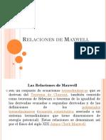 Relaciones de Maxwell