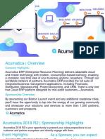 Acumatica 2018 R2 Launch + Roadshow Sponsorship Prospectus