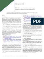 D3542-08(2013) Standard Specification for Preformed Polychloroprene Elastomeric Joint Seals for Bridges
