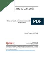 Notas de pensamiento economico
