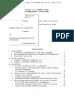 CREW v FEC and Crossroads (Intervenor) Opinion 16-CV-00259