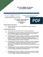Agenda City Council Special Meeting 08-06-18