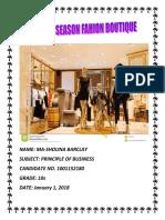 Pob Sba Changing Season Fashion Boutique