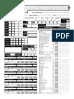 D&D 3.5 Feuilles de Personnage