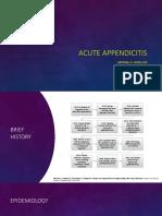 Acute Appendicitis Presentation