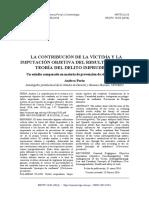 2016_La Contribucion de La Victima y La Imputacion Objetiva Del Resultado en La Teoria Del Delito Imprudente_andrea Perin_3
