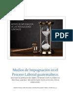 Medios de Impugnación en el Proceso Laboral guatemalteco