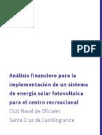 Análisis financiero sistema fotovoltaíco