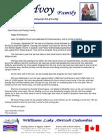 September 2010 Prayer Letter