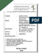 SEMINARIO N02 Indicadores Nutricionales en Desnutrición Aguda vs Cronica