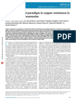 A new structural paradigm in copper resistance in Streptococcus pneumoniae