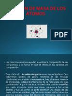 relación de masa de los átomos