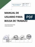 manual de usuario para la bolsa de trabajo