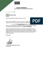Modelo Carta de Autorizacion