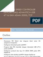 PID Motor Speed Controller dengan DAQ Advantech USB 4716 dan ADAM 5000L/TCP