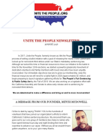 Unite the People August Newsletter