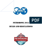 2015 Petrobowl Rules Regulations