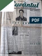 Cuvantul anul XVII (serie noua), nr. 1, 14 oct. 1940