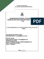 Projeto de pesquisa O biografema em Purgatório.