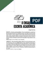 O ensaio e a escrita academica