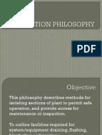 Isolation Philosophy