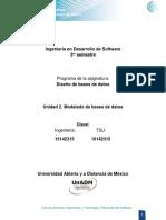 Unidad 2 Modelado de Bases de Datos