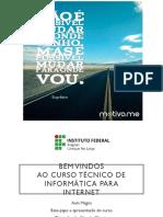 Aula Magna - Apresentação Do Curso - Tec. de Informática ifal