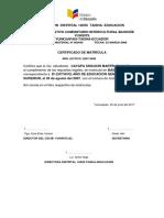 Certificado de Matrícula