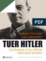 Tuer Hitler_ Confession d'Un of - 2eme Guerre Mondiale - Livres