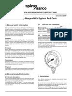 Maintenance Manual of Siphon