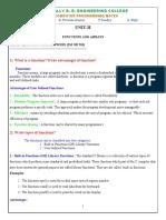 UNIT-II Questions & Answers