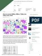 How to Convert Million, Billion, Trillion Into Lakh, Crore, Arab - Zameen Blog