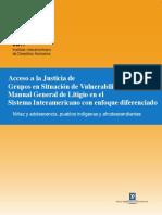 ACCESO ALA JUSTICIA de Grupos en Situación de Vulnerabilidad