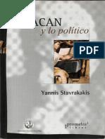 Stavrakavis Yannis Lacan y Lo Politico