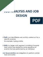 4 Job Analysis and Job Design