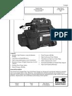 Kawasaki Series k3vg Axial Piston Pumps Catalogue En