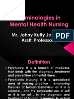 Psychiatry Terminologies