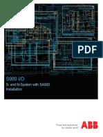 3BDD010421R0401 a en S900 I O S- And N-System With SA920 Installation