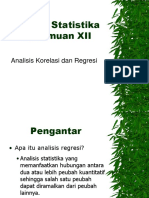 Materi XII Analisis Korelasi Dan Regresi