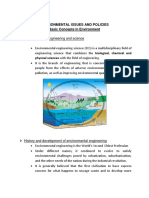 Environmental Issues and Policies