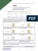 Decimals 1 Comparing Decimals