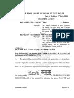 Delhi HC Judgment in Gillette v. Tigaksha
