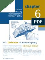 Economic management using macroeconomic monetary policy.