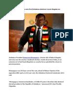 Emmerson Mnangagwa Wins First Zimbabwe Elections in Post