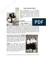 FACT SHEET.teresa, Gregoria, Trodora