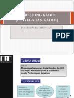 Refreshing Kader (Penyegaran Kader)