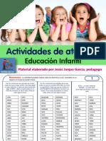 21 Fichas de Atencion Infantil Auditiva