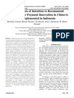 Determinants of Intention to Recommend WeChat Mobile Payment Innovation in China to be implemented in Indonesia